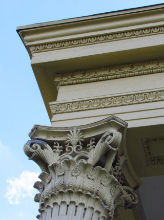 Entablature with egg and dart